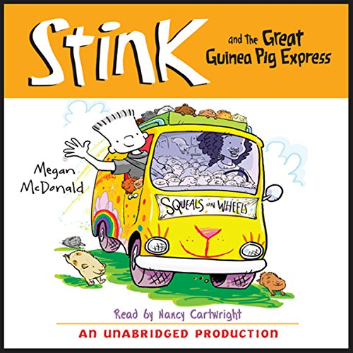Stink and the Great Guinea Pig Express audiobook cover art