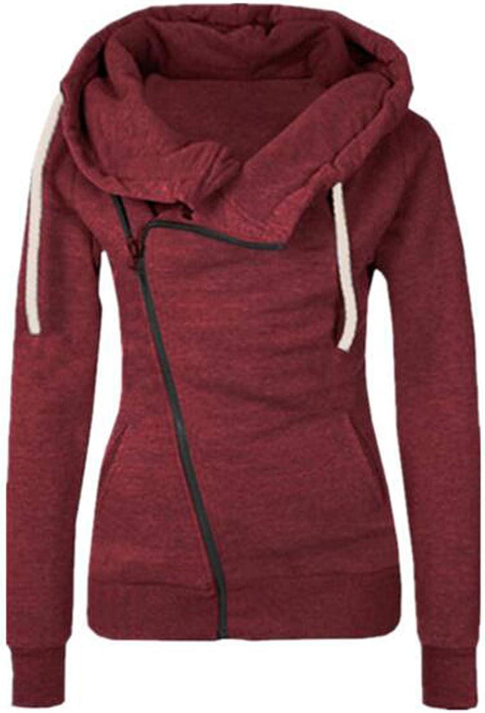 TAYBAGH Hoodies for Women,Womens Teen Girls Zip Up Hoodie Casual Drawstring Pullover Sweatshirt Long Sleeve Blouse Tops