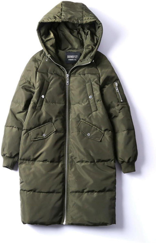 BRJKDE Winter Jacket Women Solid Long Hooded Down Coat 80% Grey Duck Parka Warm Outwear Coat
