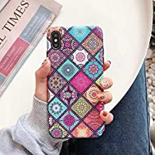 Netpastry 3D Lace Emboss Soft TPU Matte Skin Back Cover for iPhone X, XS, XS MAX XR (Vintage Flower, XS MAX)