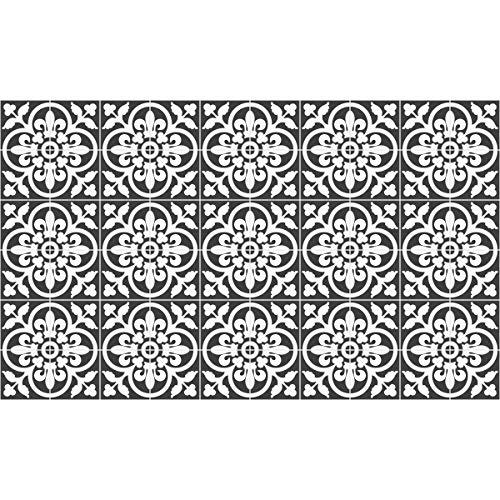 60 Stickers | Sticker tegel tegels – wandtegels badkamer en keuken mozaïek tegel – klassieke grijze schaduw – 10 x 10 cm, 60 stuks