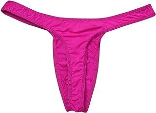 iiniim Men's Ruched Bikini Briefs Lingerie Underwear with Bulge Pouch