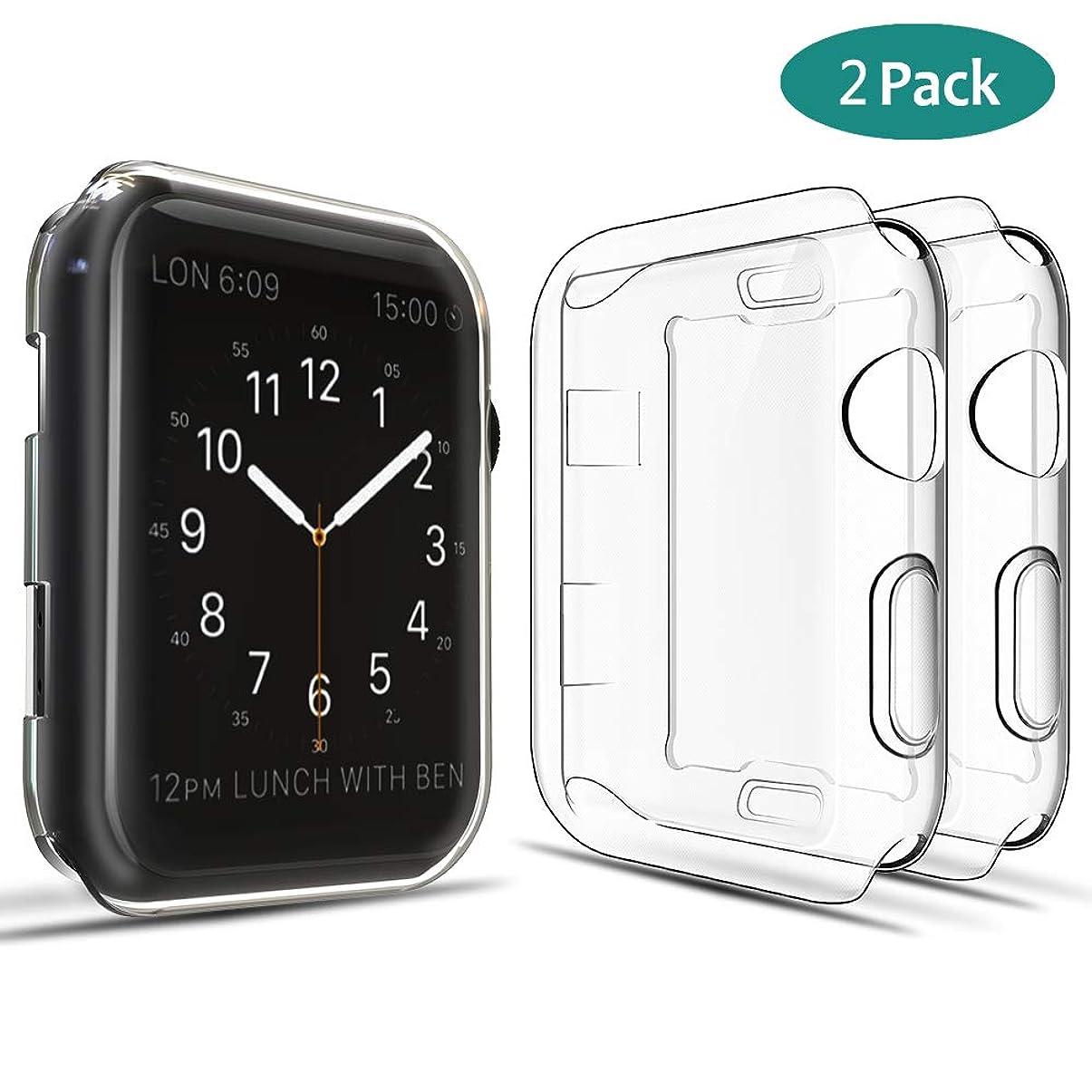 レシピ高度対抗GeeRic Apple Watch Series 4 44mm 対応 ケース アップルウォッチ シリーズ 4 44mm 対応 カバー 2枚 透明ケース 全面保護 耐衝撃 高透過率 軽量 スクリーン カバー ソフト 柔らかい 薄型 クリア