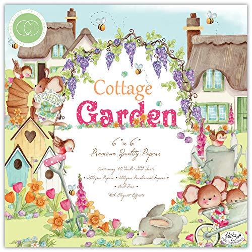 Craft Consortium Cottage Garden - Blocco di carta Premium 15,2 x 15,2 cm