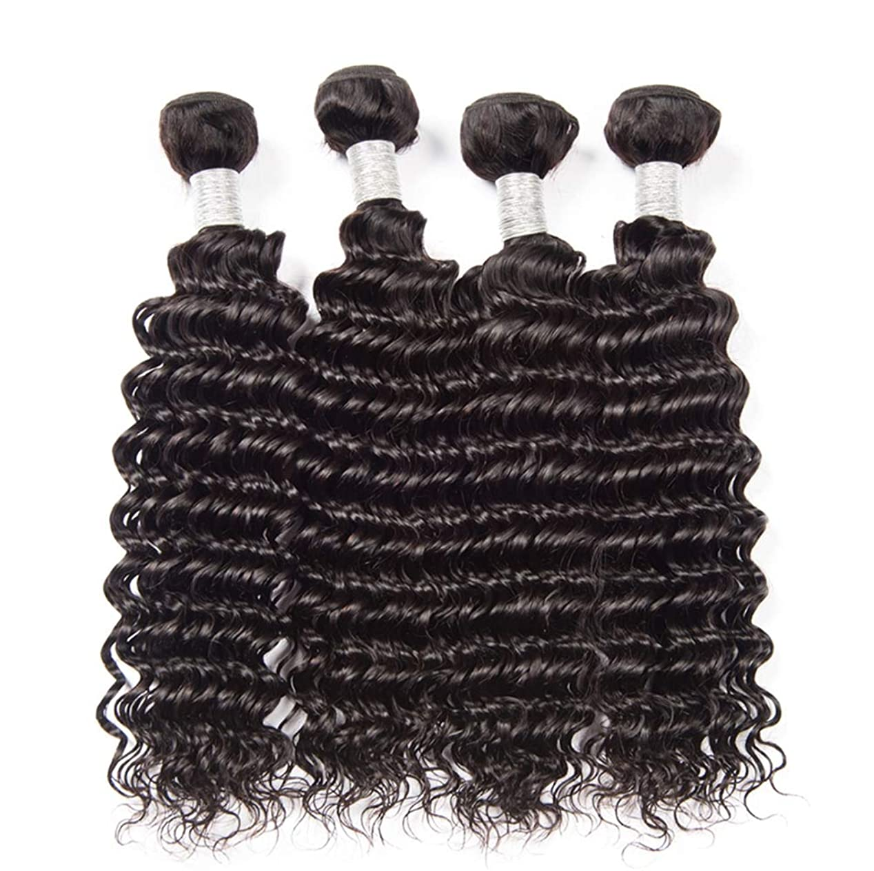 感じる休み絞る女性の髪織り密度150%ブラジル水の波髪1バンドル未処理のバージン人毛エクステンションブラジルの髪