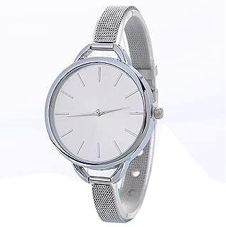 Triskye Women Analog Quartz Watches Classic Luxury Business Casual Stainless Steel Mesh Belt Strap Band Wrist Watch Ladies Wristwatch Bracelet for Teen Girls