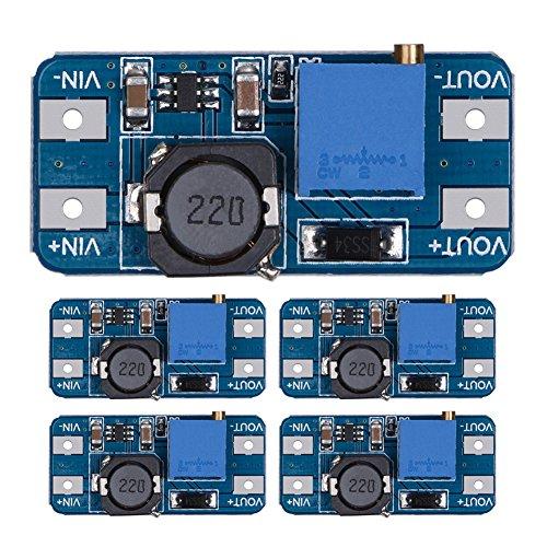 amazingdeal3655piezas MT36082A DC-DC Step up poder aplicar módulo de potencia de amplificador 5V a 9V 12V 28V para Arduino