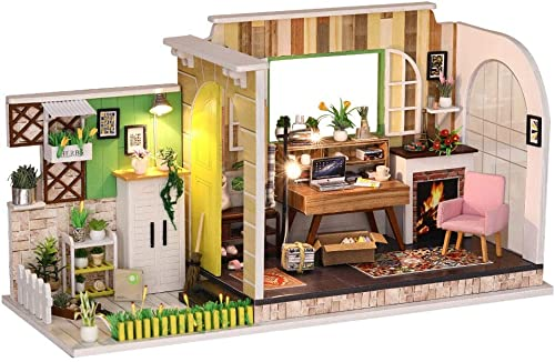 Evav Puppenhaus, DIY G borg Studio Hand Made House Modell Spielzeug Kreatives Geschenk