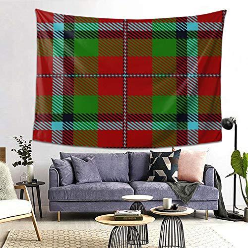 PATINISA Tapiz de Regalo,Escocia Escocés Clan Macnachtan Tartan Plaid Macnaughton,Tapiz Bohemio diseño para Colgar en la Pared,Sala de Estar Dormitorio 80x60in