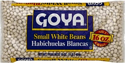 Goya Small White Beans Habichuelas Blancas 16 Oz. Pack Of 3.