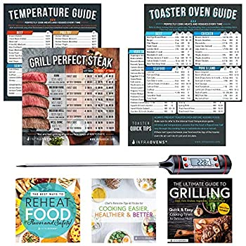 Toaster Ovens Countertop Magnetic Cheat Sheet Accessories Compatible with Cuisinart Air Fryer Toaster Oven Breville Emeril Air Fryer 360 Oven XL – Baking Accessories with Meat Thermometer