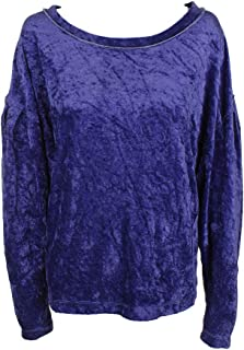 We The Free Womens Crushed Velvet Cropped Pullover Sweater