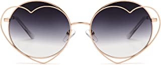 Circle of Love - Heart Shaped Round Sunglasses for Women