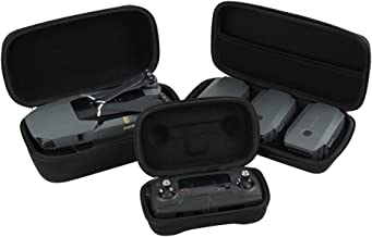 Hermitshell Hard Travel Case Fits DJI Mavic Pro Foldable Drone Body + Remote Controller Transmitter + 3 Batteries