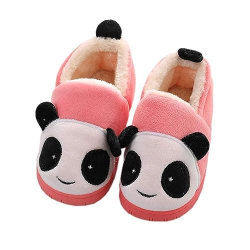 b8d2f7c5232e9 KVbaby Girls Slippers Winter Kids House Slippers Boys Plush Warm Indoor  Shoes Soft Slip On Bedroom