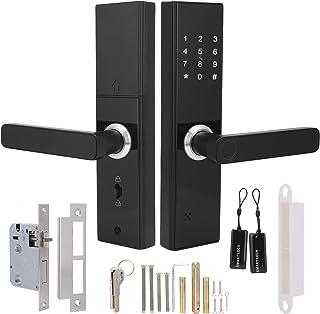 Fechadura de porta com impressão digital inteligente, função de toque WIFI com chave mecânica Função Tuya Fechadura de por...