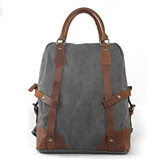 Fashion Water Resistant Laptop Bag Canvas Travel College Backpack Casual Appearance Business (Color : Gray, Size : 33cm*11cm*44cm)