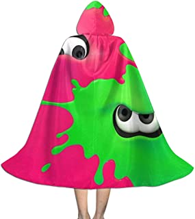 Kid Halloween Christmas Party Splatoon 2 Hooded Cloaks Cape Robe for Boy Girl