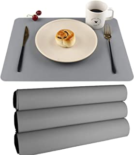 Silicone Placemats,Kids Placemats,Table Mats Set of 4 Waterproof Heat Resistant Non-Slip Kitchen Placemat for Dining Table...