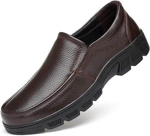 Herren-Business-Schuhe Leder Frühling Sommer Herbst Comfort Loafers & Slip-Ons Driving schuhe Casual Office & Karriere,B,44