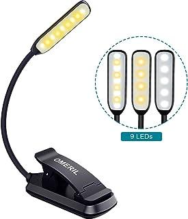 comprar comparacion 9 LED Luz de Lectura Libro, OMERIL Lampara Lectura Recargable con Sensor Táctil, 3 Modos de Brillo Ajustable (Luz Cálido y...