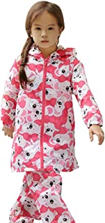 LHY- Raincoat Xs/s/m/l Children's Baby Poncho Boys and Girls Primary School raincoat Set Convenient (Color : Pink, Size : S)