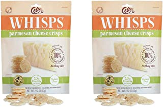 Whisps Parmesan Cheese Crisps | Keto Snack, No Gluten, No Sugar, Low Carb, High Protein | 9.5oz (2 Pack)