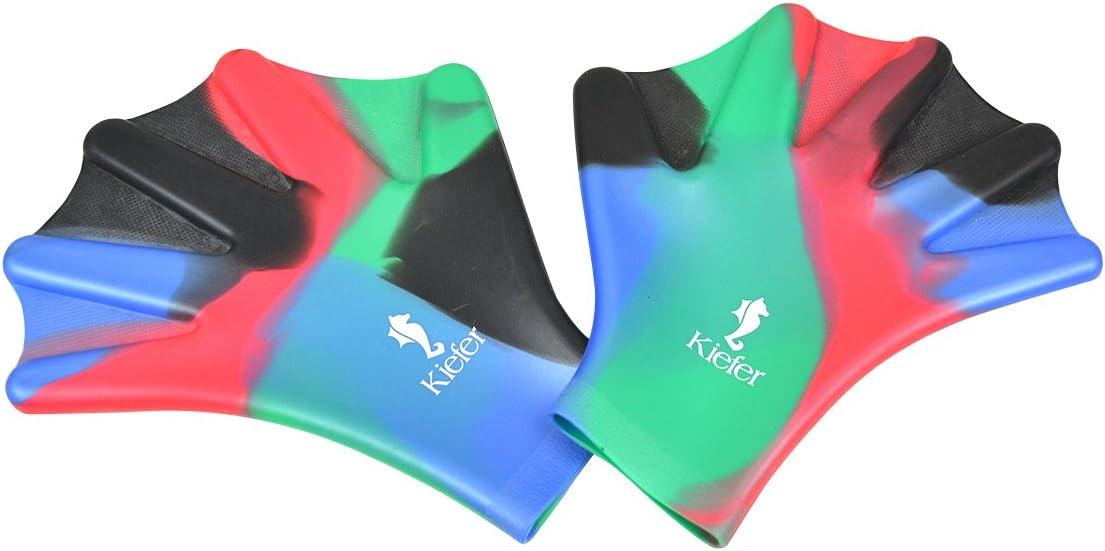 Brave Tour Silicone Webbed Swim Training Gloves Closed Full Finger Diving Snorkeling Gloves Best Gift for Unisex Adult Kids Teenages Girls Boys Swimming Training