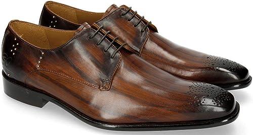 MELVIN & HAMILTON MH HAND MADE schuhe OF CLASS Albert 1 Wood Rivets Lines Dark braun