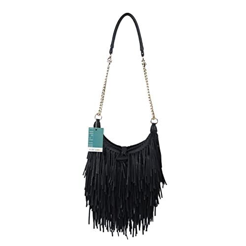 9de93ec6ca3 LUI SUI Women s Fashion Fringed Shoulder Bag Tassel Cross Body Bags