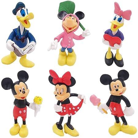 Juego de 6 PCS de Mini Mickey, Sombrero de Copa de Mickey, Decoraciones para Pasteles de Cumpleaños, Mini Juguetes para Niños, Decoraciones para Fiestas Temáticas de Mickey