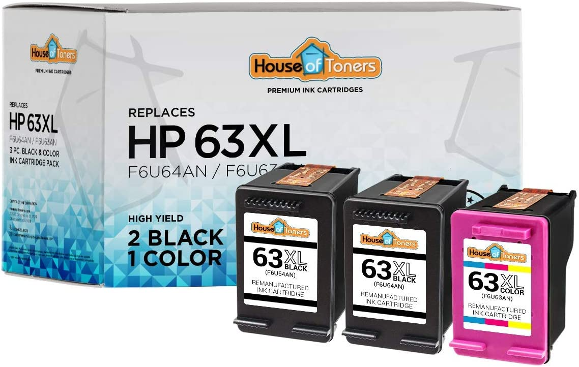 sold out HouseOfToners Remanufactured Ink Cartridge for 63 Columbus Mall HP Replacement