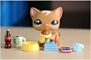 LPSTREE LPS Shorthair Cat 1170 Brown Blue Eyes Kitty Kitten with Accessories Lot Children Girls Boys Figure Collectible Toy Gift