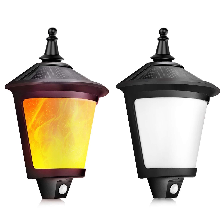ShinePick Luces Solares Exterior, Luz Solar Jardín Impermeable, Proporcionar hasta 12 HORAS con 2 Modos y Sensor de Movimiento para Jardín,Patio,Garaje, Escaleras [2 Paquete]: Amazon.es: Iluminación