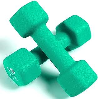 Fitness Alley Neoprene Dumbbell Set Coated for Non Slip Grip - Hex Dumbbells Weight Set - Hand Weights Set - Neoprene Weight Pairs - Hex Hand Weights - Set of Two Neoprene Dumbbells