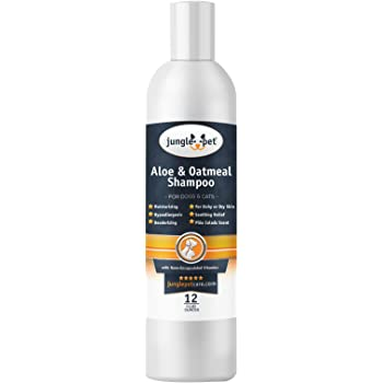 Jungle Pet Aloe & Oatmeal Shampoo -Soothing, Moisturizing, Nourishing - with Aloe Vera - Soap Free PARABEN Free Sulfate Free - Hypoallergenic with Oatmeal & Chamomile