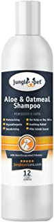 Jungle Pet Aloe & Oatmeal Shampoo -Soothing, Moisturizing, Nourishing - with Aloe Vera - Soap Free PARABEN Free Sulfate Free - Hypoallergenic with Oatmeal & Chamomile