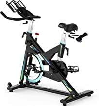 YJZ Exercise Bike Bicycle ergometer Test Winner Exercise Bike Stepless Resistance Adjustment with Heart Rate Monitor Large...