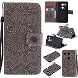 pinlu® Folio Housse de Protection Étui en Cuir PU Stent Function Case Flip Cover pour LG Nexus 5X...