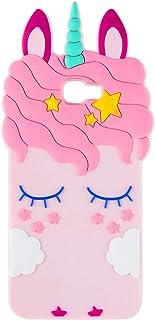 TopSZ Pink Unicorn Case for Samsung Galaxy J7 Sky Pro,Galaxy Halo,Silicone 3D Cartoon Animal Cover,Kids Girls Teen Animate...