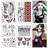 Lim 4 Hojas Grandes SS Tatuaje Temporal HQ & The Joker Sticker 80 + Tats Traje/Cosplay Party Accesor...