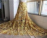 12 opciones de color bordado de tela de encaje de novia de 59 pulgadas de ancho con cuentas florales de boda de tela de encaje de 1 yarda
