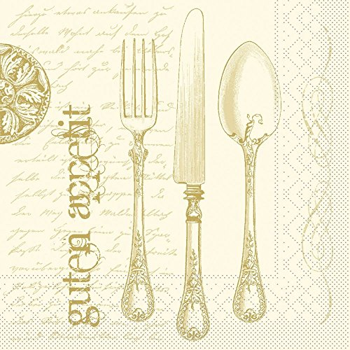 Vlag HORECA servet Elisabeth | tissue 40x40cm | horeca restaurant hotel feest | 100 stuks goud-champagne