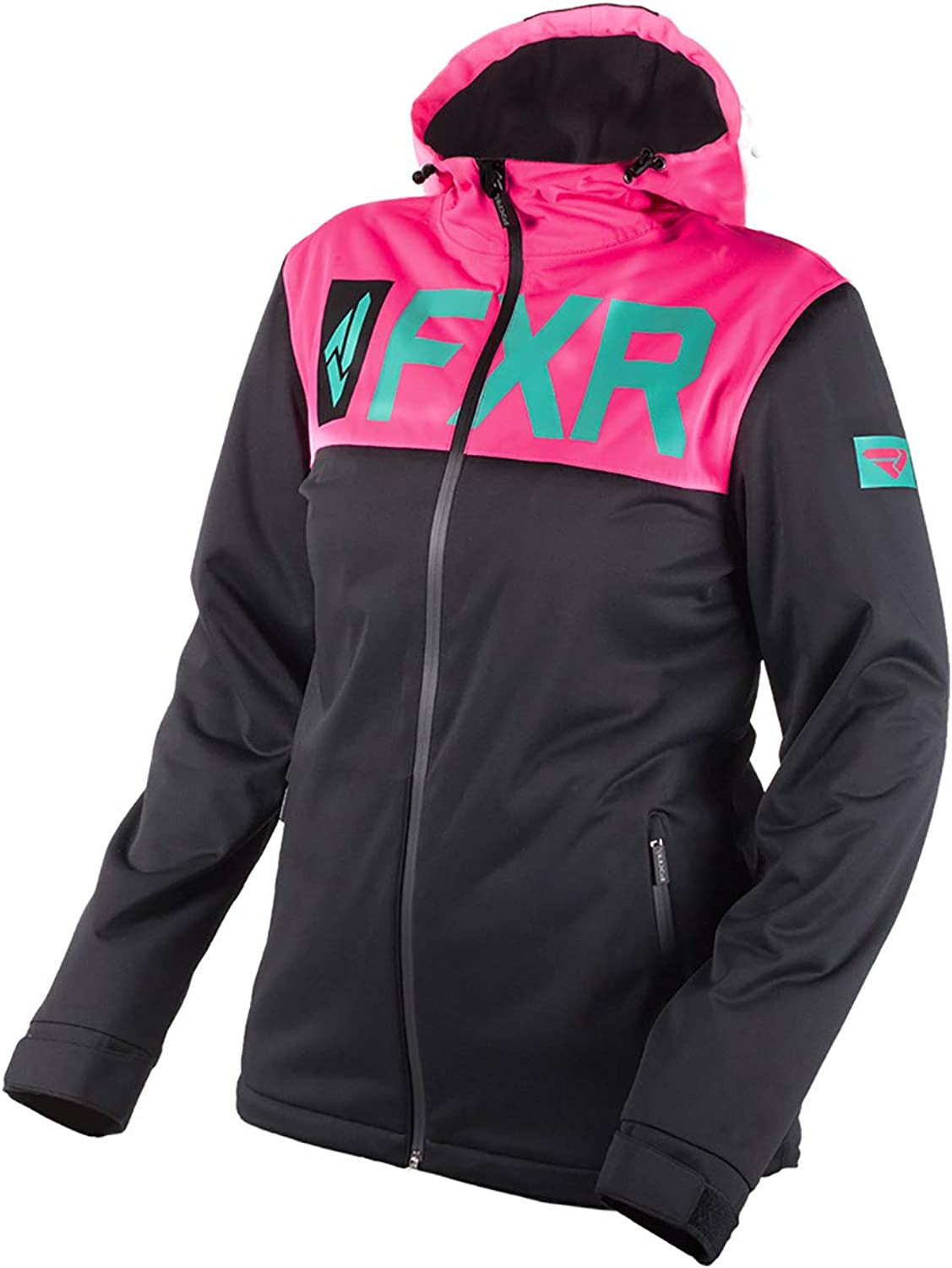 FXR Helium Womens DualLaminate Jacket Black Pink XXL