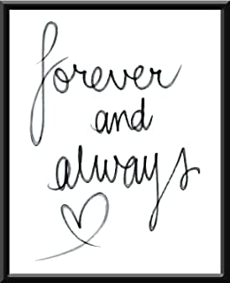 Forever and always para siempre you and me forever I love you Te amo Quote Frase Funny Blanco y Negro Cuadro decorativo Print Animales Regalo Arte Poster Cuadro Decorativo Art Wall Art Vintage Decor Home Decor Decoración Retro Hipster Cool