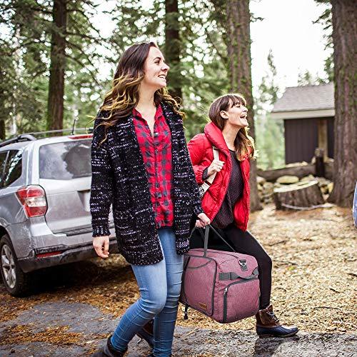CANWAY CANWAY Faltbare Reisetasche Leicht Sporttasche mit Abnehmbar Schulterriemen & Schuhfach Reisegepäck für Reisen Sport Gym Urlaub (Grau, 65L)