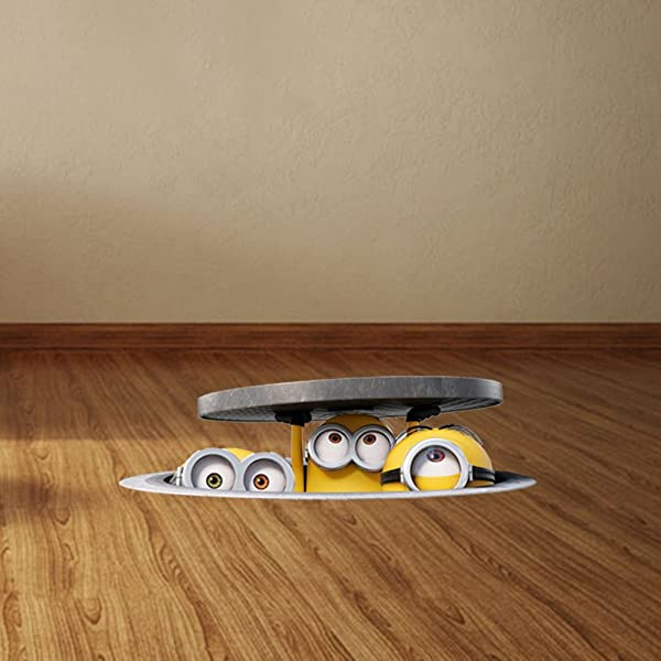 DEXUNN 3D Sewer Minions Wall Stickers For Kids Rooms And Kindergarten PVC Car Stickers Despicable Me Poster Home Decor OO 042