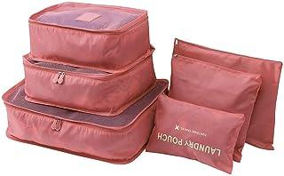 6 قطع سفر مجموعة الملابس الغسيل السرية حقيبة التخزين التعبئة الأمتعة المنظم حقيبة
