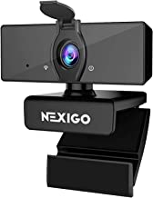 1080P Business Webcam with Dual Microphone & Privacy Cover, 2021 [Upgraded] NexiGo USB FHD Web Computer Camera, Plug and P...