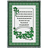 Irish Blessing - May The Road Rise Up to Meet You - Blanket Throw Woven from Cotton - Made in The USA (70x50)